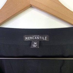 J. Crew Tops - J. Crew Mercantile Black Faux Wrap Blouse Size 14